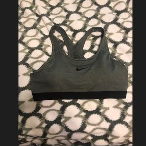 Grey Nike Pro Dri-fit Sports bra